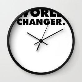 World Changer Super Bold Charm  Wall Clock