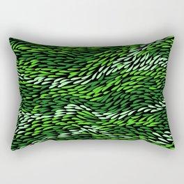 Authentic Aboriginal Art - Grass Rectangular Pillow