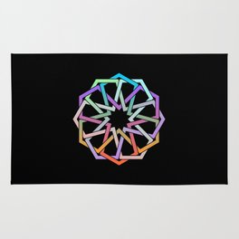 Geometric Art - Hexagon Rose Rug