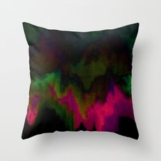 fuchsia drips Throw Pillow