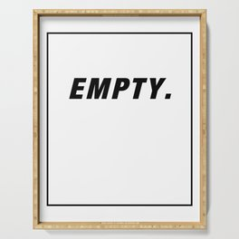 Empty Space In A Frame black Serving Tray