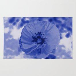 Blue poppy Rug