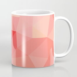 Shades of Coral Low Poly Design Coffee Mug