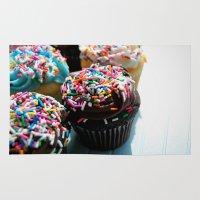 cupcakes Area & Throw Rugs featuring Cupcakes by Gabby DaRienzo