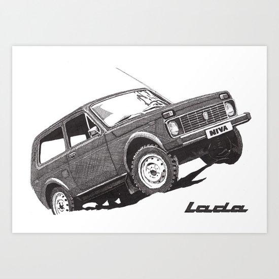 Lada Niva Art Print