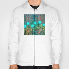 Flowers blue Hoody