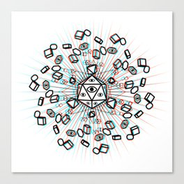 all seeing geometry Canvas Print