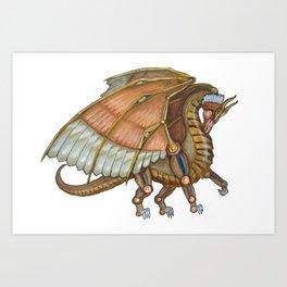 Dragon Steam Art Print