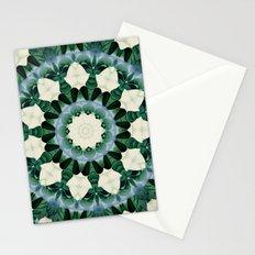 Sacramento Green and Cerulean Blue Mandala Stationery Cards