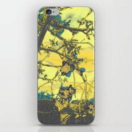 Blossoms Abstract Yellow iPhone Skin