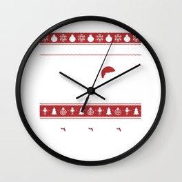 Ugly Christmas Dachshund Through The Snow Wall Clock
