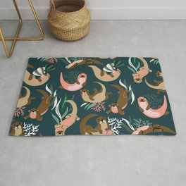 Otter Collection - Teal Palette Rug