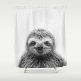 Young Sloth Shower Curtain