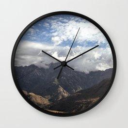 wrinkle mountain Wall Clock