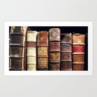 library Art Prints featuring Library by Mad Marys