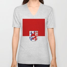 flag of Düsseldorf or Dusseldorf Unisex V-Neck