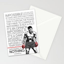 Ali 'The Champ' Boxing Stationery Cards