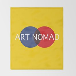 I am an Art Nomad Throw Blanket