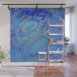 Blue pattern Wall Mural