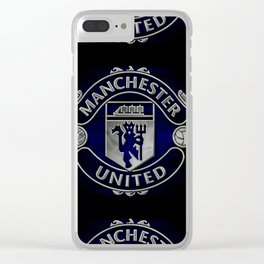 Manchester united Logo Clear iPhone Case