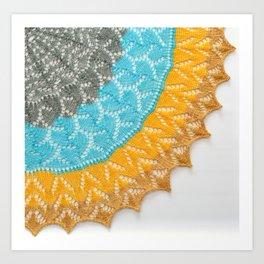 Zeezicht lace Art Print