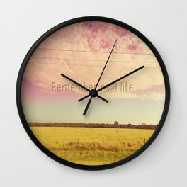 REMEMBER REAL LIFE Wall Clock