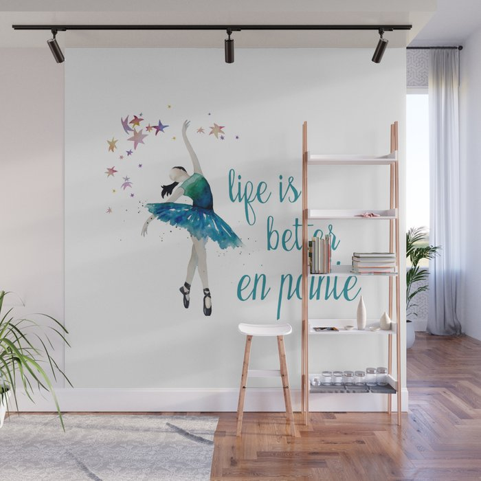 Life is better when you dance Wall Mural by allisonrattray Society6