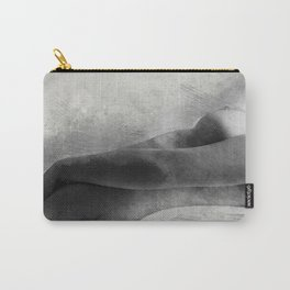 Time for Myself. Nude woman pencil and watercolor portrait Carry-All Pouch