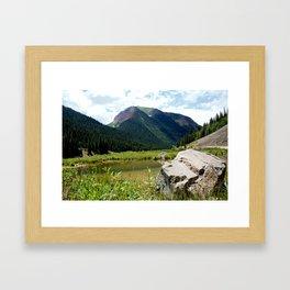 Beaver Lodge at Bear Mountain Framed Art Print