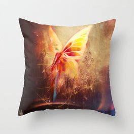 Breezy Morning Blues Throw Pillow