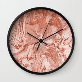 Marbled Clay Pot Ombre Terra Cotta Wall Clock