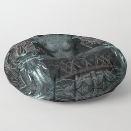 Triptych: Shakti - Black Goddess Floor Pillow