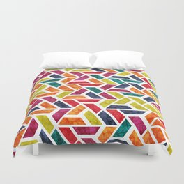 Seamless Colorful Geometric Pattern XII Duvet Cover
