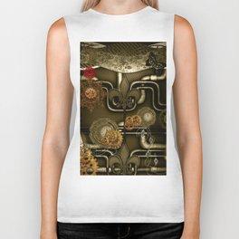 Wonderful noble steampunk design Biker Tank