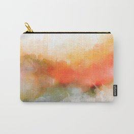Soft Marigold Pastel Abstract Carry-All Pouch