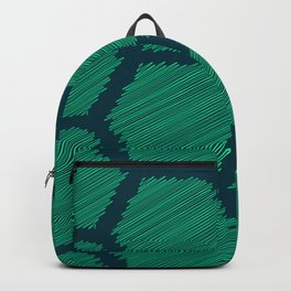Green Scribbled Hexagon Geometric Pattern Backpack
