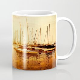 Golden Marina Sunset Coffee Mug