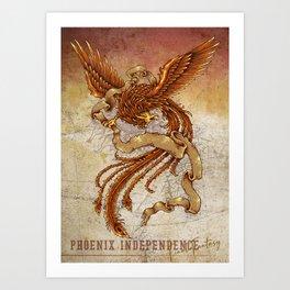 Phoenix Independence Art Print