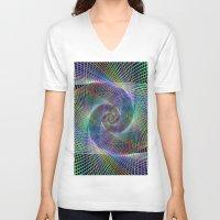fractal V-neck T-shirts featuring Fractal by David Zydd