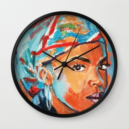 Lauryn Hill Artwork - Hip Hop Art - Rap Painting - Music Decor Wall Clock