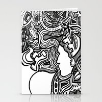 techno Stationery Cards featuring Techno by Madison R. Leavelle