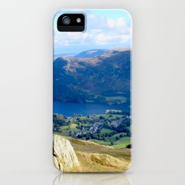 Mountains, Valleys and River during a hike in England iPhone Case