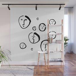 Wondering Heads Wall Mural