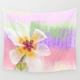 Sun bathing tulip Wall Tapestry