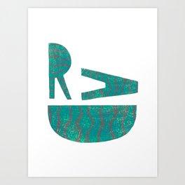 Rad - Green Art Print