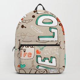 Seamless love letter pattern Backpack