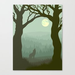 wolf forest Canvas Print