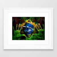 brasil Framed Art Prints featuring Brasil by detectivesinc