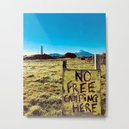 No Free Camping Here Metal Print