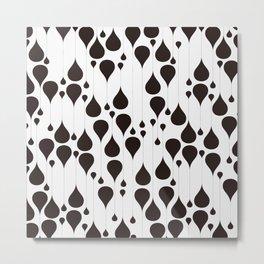 Monochrome waterdrops pattern. Metal Print